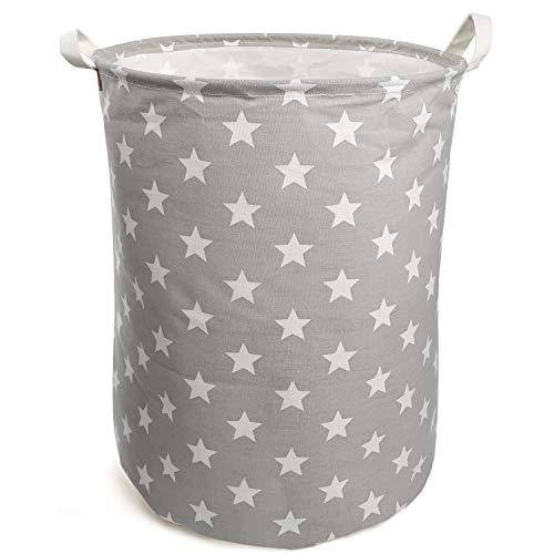 Paquete de 3 Plegable Gris Grande Almohada Ballery Bolsa de Almacenamiento para Ropa con Mango Reforzado y Cremallera Estable de Tela Gruesa para Ropa de Cama
