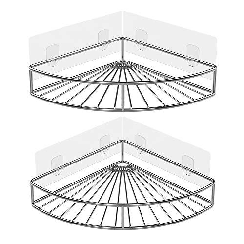 paquete de 4 Yeegout Atornille las almohadillas adhesivas para no perforar el ba/ño con barra de toalla y ganchos